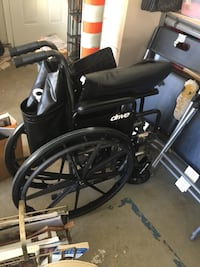 black and gray folding wheelchair Lake Forest, 92630