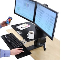 WorkFit-S Dual Sit-Stand Workstation with Worksurface Coquitlam, V3B 0G5