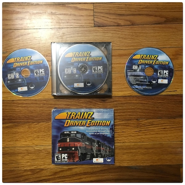 PC Game 3- CD Rom Train Driver Edition , barely use , experience driving a  locomotive