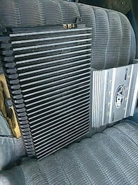 gray amplifier and car radiator filter