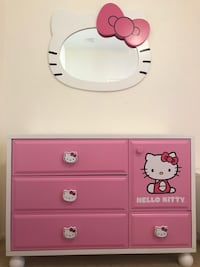 pink and white wooden dresser Las Vegas, 89120