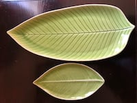 Green ceramic banana leaf plates  Perry Hall, 21128