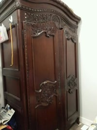 brown wooden cabinet with mirror Surrey, V3R 0T5