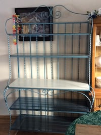 Wrought Iron Bakers Rack with marble and glass shelves 3120 km