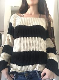 Women's black and white knitted shirt  Xanthi, 67100