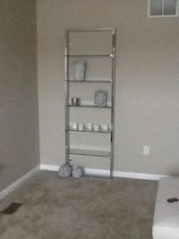 Tesso Chrome Wall Mounted Bookcase COLUMBUS