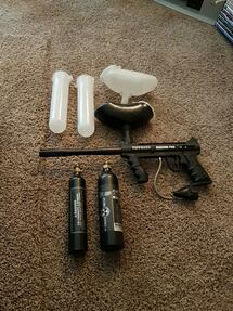 black Tippmann paintball marker set