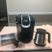 Keurig single cup pod maker with 12 oz brew size incl reusable coffee filter, silver thermal carafe, 4 water filters New York, 10308