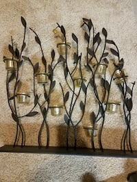 Candle holder reed decorations Severn, 21144