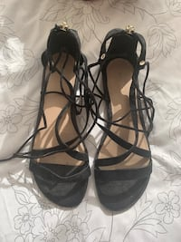 Black Lace Up Gladiator Sandals Women's Size 9 Toronto, M4P 1T9