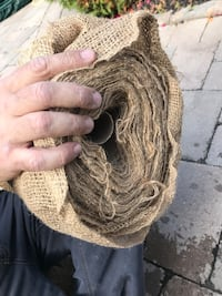 Unused burlap roll.  Markham, L6E 1E7