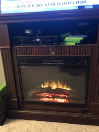 Fireplace tv stand with heater  68 km