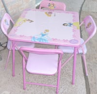 Disney Pink Table with Four Chairs  Balch Springs