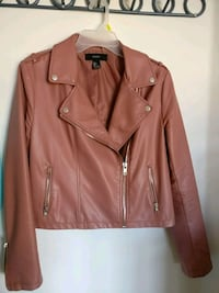 Faux leather rose jacket 534 km