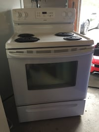 white and black electric coil range oven Ajax, L1Z 0M4