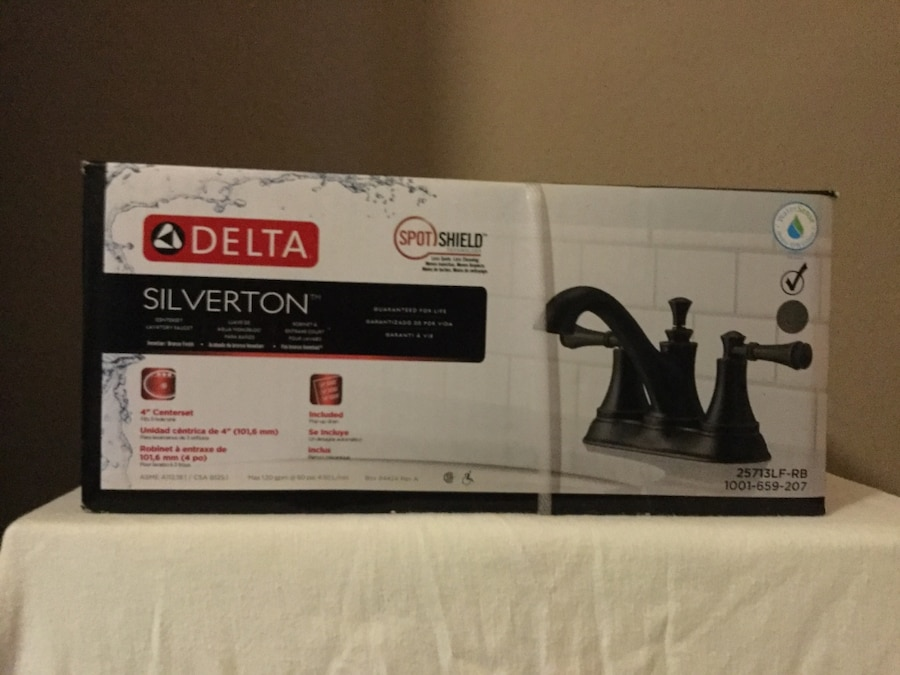Used Delta silverton faucet box in Fairhope