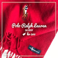 Rød polo ralph lauren tekstil