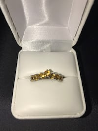 Sterling Silver Citrine Chevron Ring 35 km