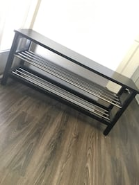 Entry way shoe rack (minor scratches on top) 139 mi