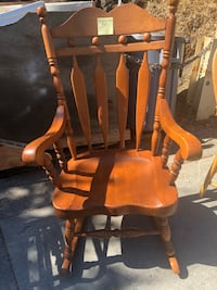 brown wooden windsor rocking chair San Rafael, 94901