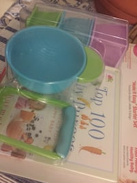 nuk baby food book masher and bowls