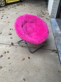 Pink Faux-Fur Saucer Chair. If it's listed, it's available. Pls don't ask. Thx! Tysons