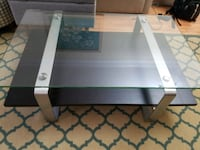 Black wood glass metal designer coffee table Fairfax, 22030