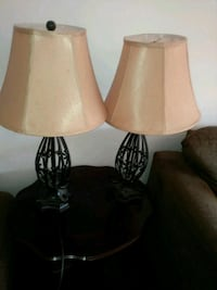 two brown-and-white table lamps Toronto, M1B 1H9