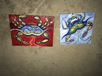 two blue and red abstract paintings Elizabeth City, 27909