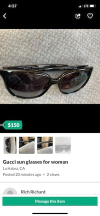 Gucci sunglasses  La Habra, 90631