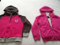 2 pink hoodie jackets excellent conditions size 6 both $8