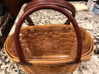 Longaberger Summertime Boardwalk Basket with Leather Handles (Handbag like) Arlington, 22206