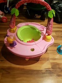 baby's pink and green activity saucer Pickering, L1V 4Y1