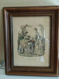 brown wooden framed painting Cudahy, 90201