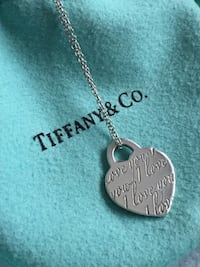 "Tiffany ""I Love You"" Heart Tag Necklace in Sterling Silver Toronto, M2J 0A7"