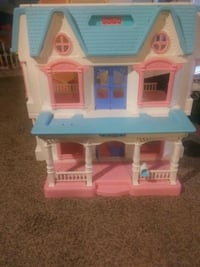 Excite your princess w/ this doll house.any figurine will work..