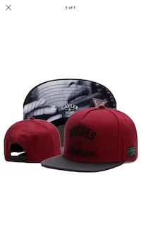 New Red and black fitted cap Toronto, M3M 2X1