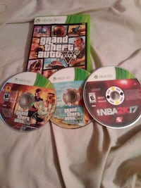 Xbox 360 Video games GTA 5 and Nba2k17 Salt Lake City, 84116
