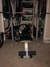 Adidas inclining weight bench with plates. 297 mi