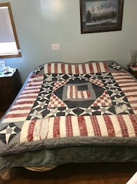 Vintage antique USA hand made quilt Washington, 20024