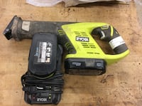 Ryobi P515 sawzall with batteries and charger used  Baltimore, 21205