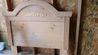 Twin wooden headboard
