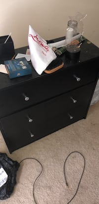 black wooden 3-drawer chest Falls Church, 22043