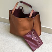 Nordstrom reversible brown and red tote Vancouver, V5Y 3Z5