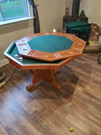 Bumper pool card table, regular table