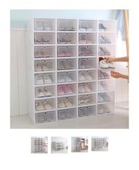 Shoe storage stackable clear / white boxes Clarksburg, 20871