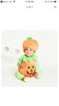 Baby pumpkin Halloween costume 28 km