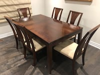 Rectangular brown wooden table with six chairs dining set Richmond Hill, L4C 9V2