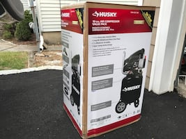 Husky 10 Gal. portable electric air compressor with tools