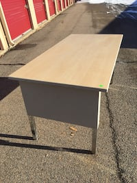 "Metal desk 60""L x 30"" W 30"" H Franklin, 02038"